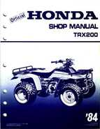 1984 Official Honda TRX200 Shop Manual