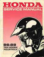 1986-1988 Honda TRX 200SX Fourtrax Service Manual