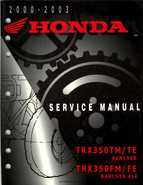 2000-2003 Honda TRX350 Rancher factory service manual