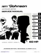 1971 Johnson 60HP outboards Service Manual